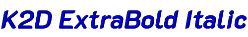 K2D ExtraBold Italic