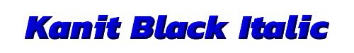 Kanit Black Italic