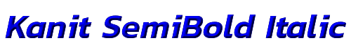 Kanit SemiBold Italic