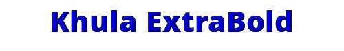 Khula ExtraBold