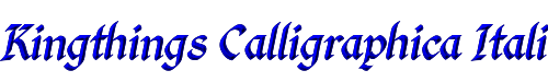 Kingthings Calligraphica Italic Calligraphica