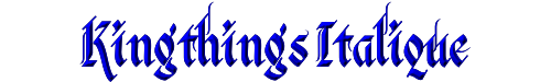 Kingthings Italique