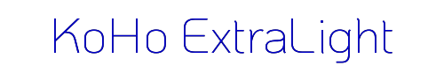 KoHo ExtraLight