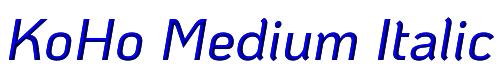 KoHo Medium Italic