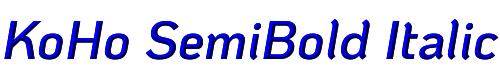 KoHo SemiBold Italic