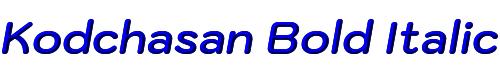 Kodchasan Bold Italic