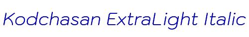 Kodchasan ExtraLight Italic