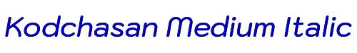 Kodchasan Medium Italic