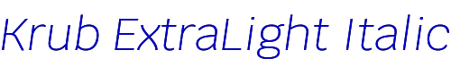 Krub ExtraLight Italic