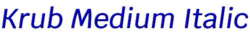 Krub Medium Italic
