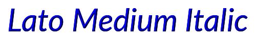 Lato Medium Italic