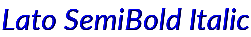 Lato SemiBold Italic