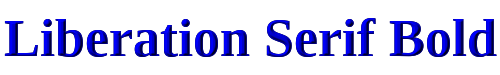 Liberation Serif Bold