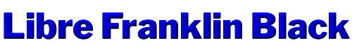Libre Franklin Black