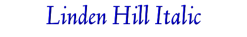 Linden Hill Italic