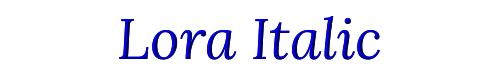 Lora Italic