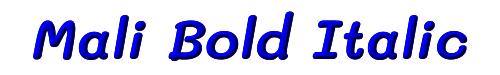 Mali Bold Italic