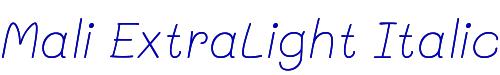 Mali ExtraLight Italic