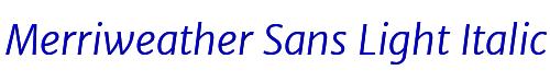 Merriweather Sans Light Italic
