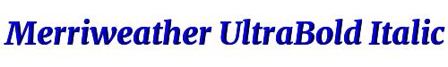 Merriweather UltraBold Italic