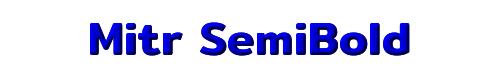 Mitr SemiBold