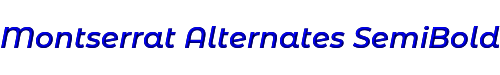 Montserrat Alternates SemiBold Italic