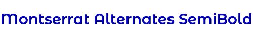 Montserrat Alternates SemiBold