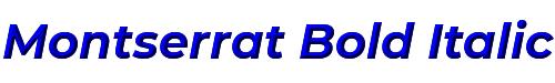 Montserrat Bold Italic