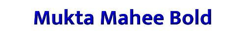 Mukta Mahee Bold