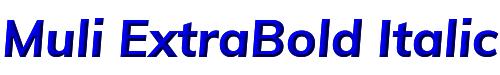 Muli ExtraBold Italic