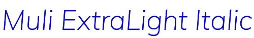 Muli ExtraLight Italic