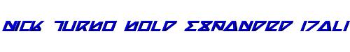 Nick Turbo Bold Expanded Italic Bold ExpandedItalic
