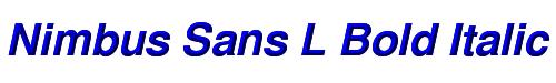 Nimbus Sans L Bold Italic