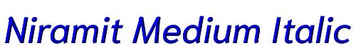 Niramit Medium Italic