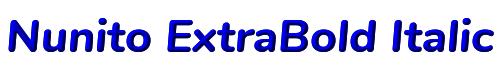 Nunito ExtraBold Italic