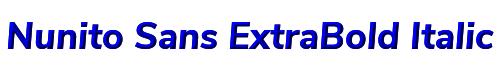 Nunito Sans ExtraBold Italic