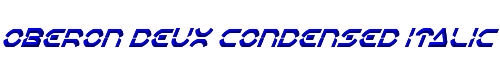 Oberon Deux Condensed Italic