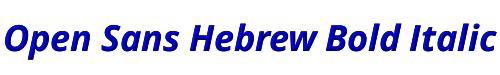 Open Sans Hebrew Bold Italic