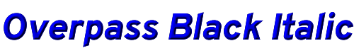 Overpass Black Italic