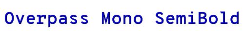 Overpass Mono SemiBold