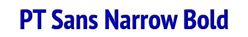 PT Sans Narrow Bold