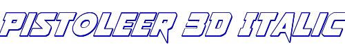 Pistoleer 3D Italic