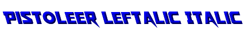 Pistoleer Leftalic Italic