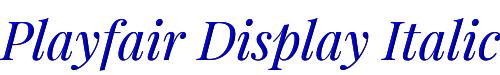 Playfair Display Italic