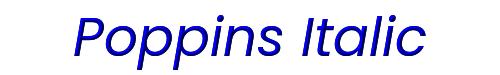 Poppins Italic