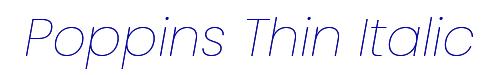 Poppins Thin Italic
