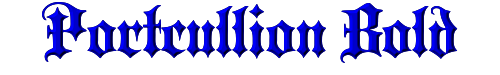 Portcullion Bold
