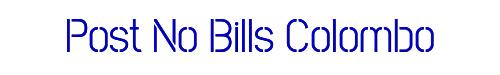 Post No Bills Colombo