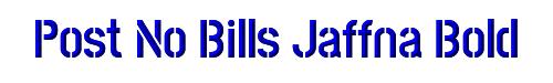 Post No Bills Jaffna Bold