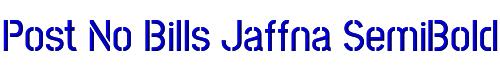 Post No Bills Jaffna SemiBold